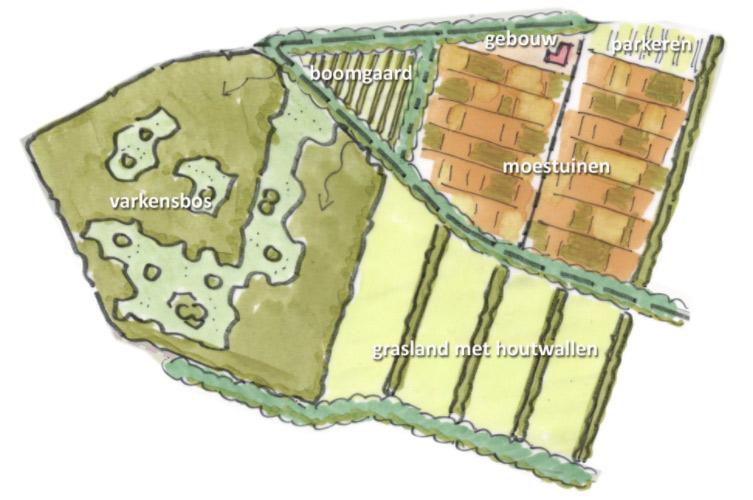 Mogelijk opbouw van de locatie