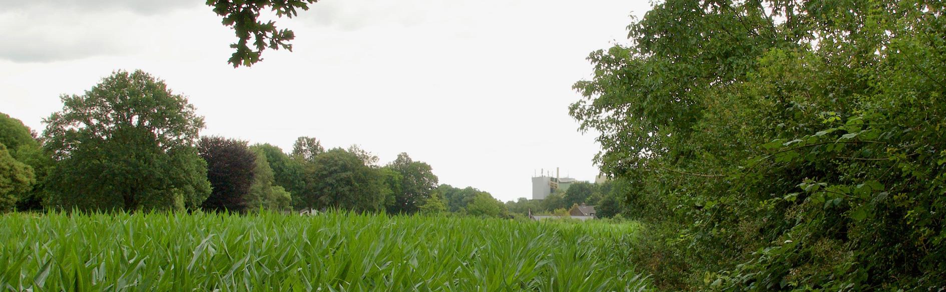 Landerijen met aan achterzijde boerenbond gebouw